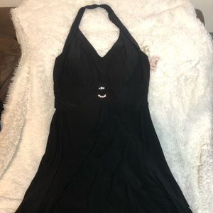 Black Dress Barn halter dress. NWT